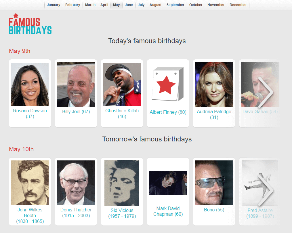 Famous Birthdays July 5 inside the famous birthdays: celebrity birthdays and famous people